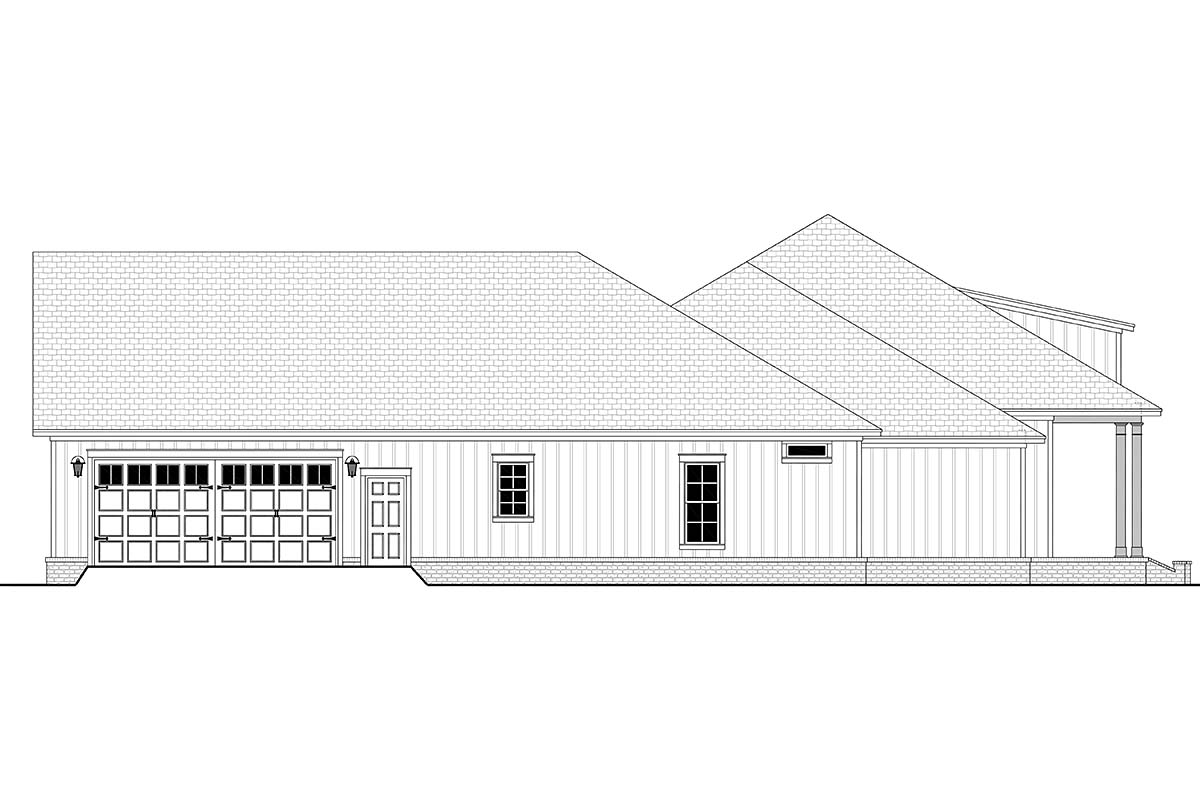 Country, Craftsman, Farmhouse, Southern, Traditional House Plan 56711 with 3 Beds, 3 Baths, 2 Car Garage Picture 2