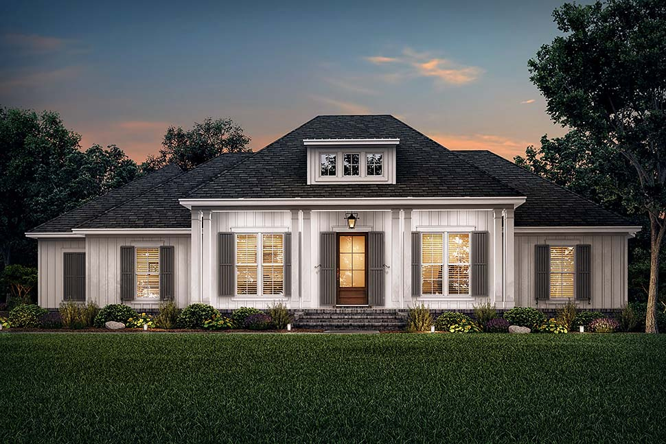 Country, Craftsman, Farmhouse, Southern, Traditional House Plan 56711 with 3 Beds, 3 Baths, 2 Car Garage Picture 4