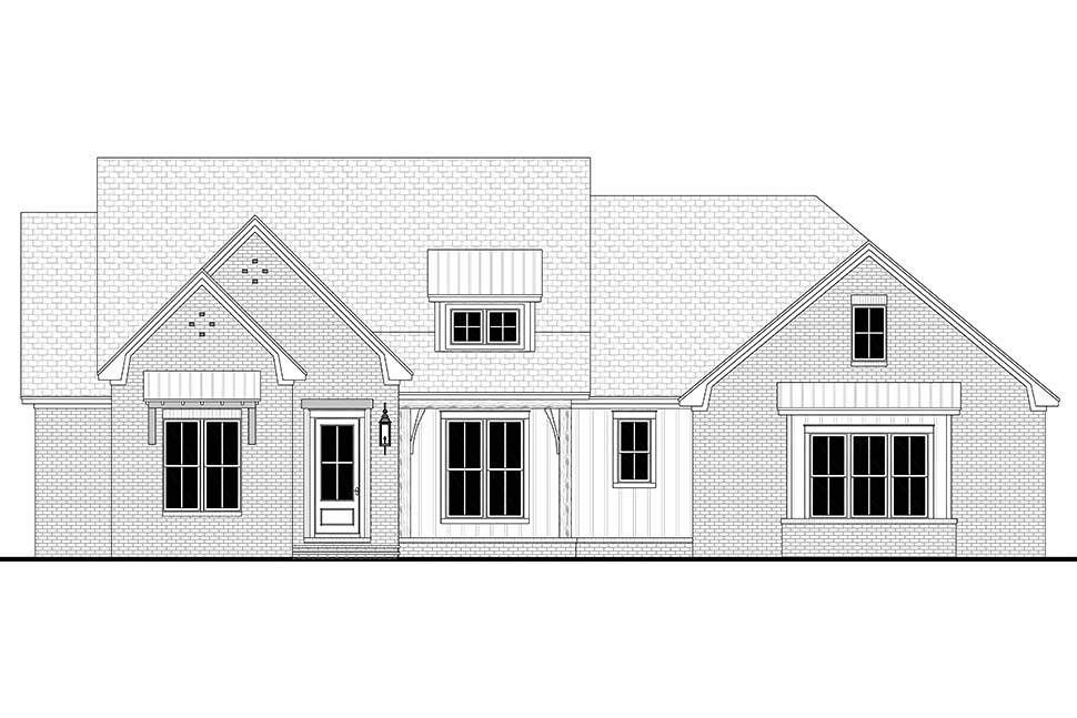 Contemporary, Country, Craftsman, Farmhouse, Southern, Traditional House Plan 56714 with 4 Beds, 3 Baths, 2 Car Garage Picture 3