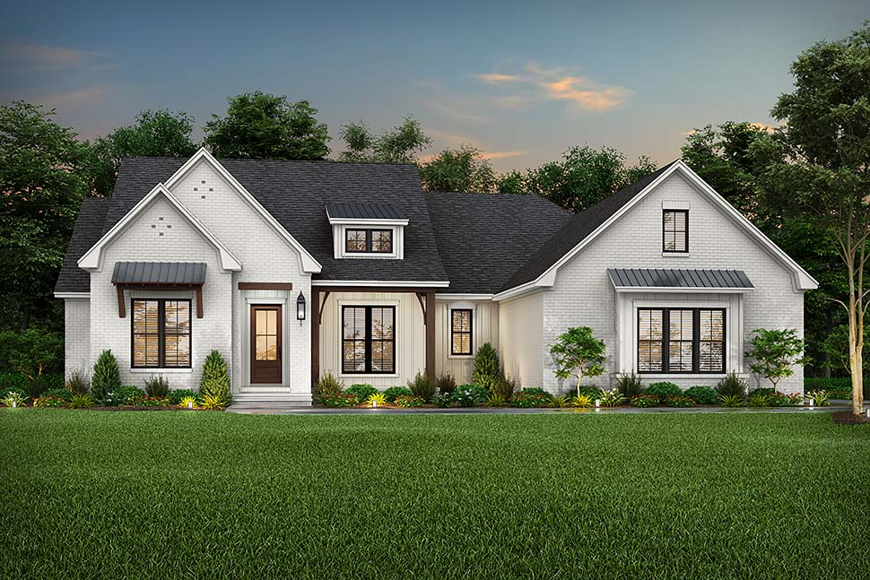 Contemporary, Country, Craftsman, Farmhouse, Southern, Traditional House Plan 56714 with 4 Beds, 3 Baths, 2 Car Garage Picture 4