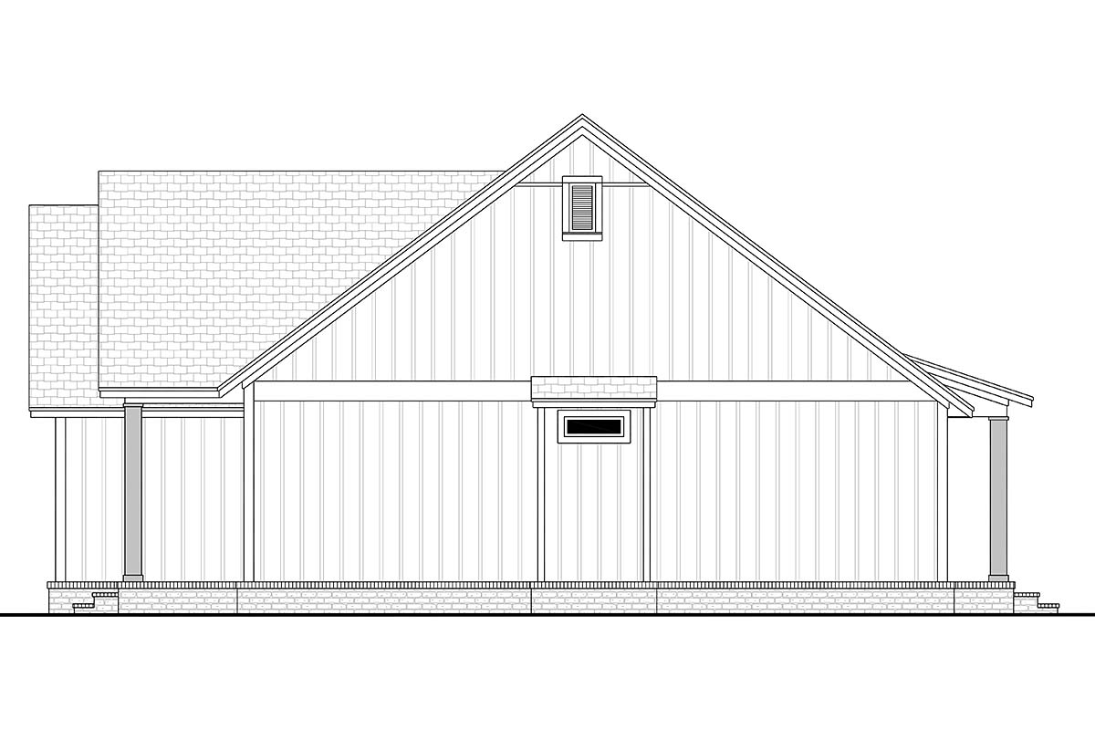 Cottage, Country, Farmhouse, Modern, One-Story, Traditional House Plan 56715 with 3 Beds, 2 Baths, 2 Car Garage Picture 1