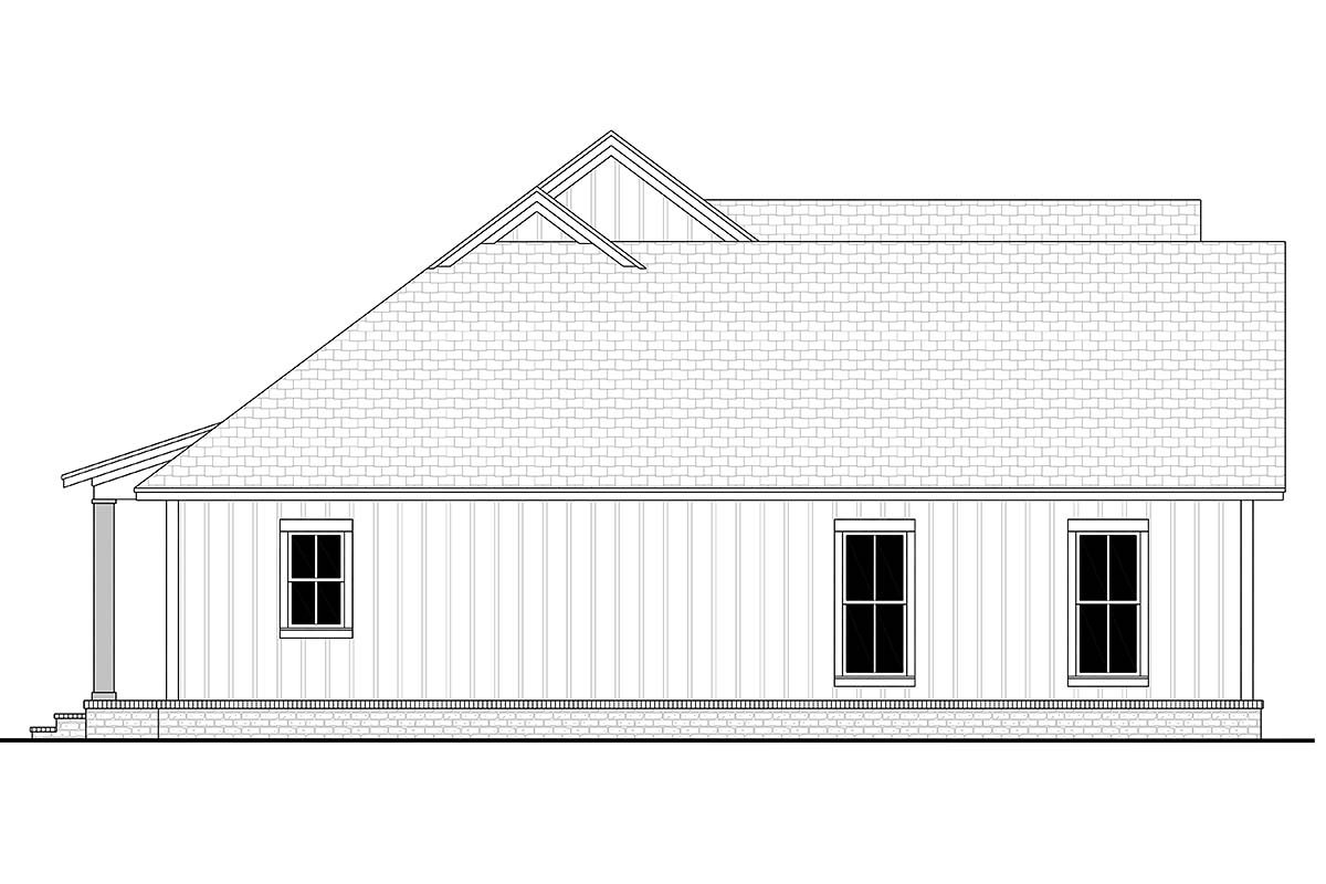 Cottage, Country, Farmhouse, Modern, One-Story, Traditional House Plan 56715 with 3 Beds, 2 Baths, 2 Car Garage Picture 2