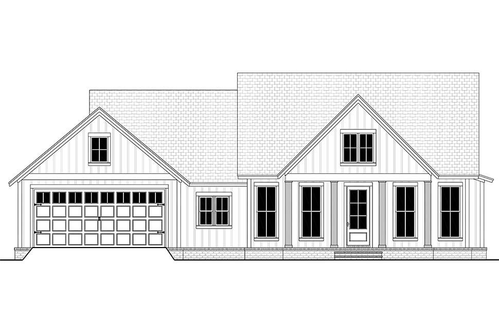 Cottage, Country, Farmhouse, Modern, One-Story, Traditional House Plan 56715 with 3 Beds, 2 Baths, 2 Car Garage Picture 3