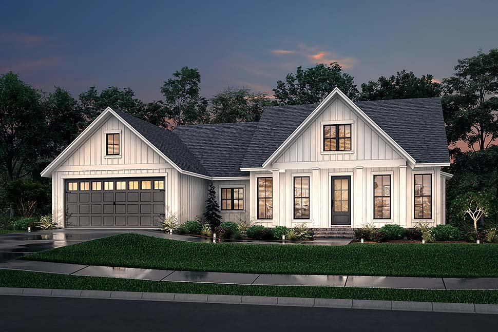 Country, Farmhouse, One-Story, Traditional House Plan 56715 with 3 Beds, 2 Baths, 2 Car Garage Picture 4