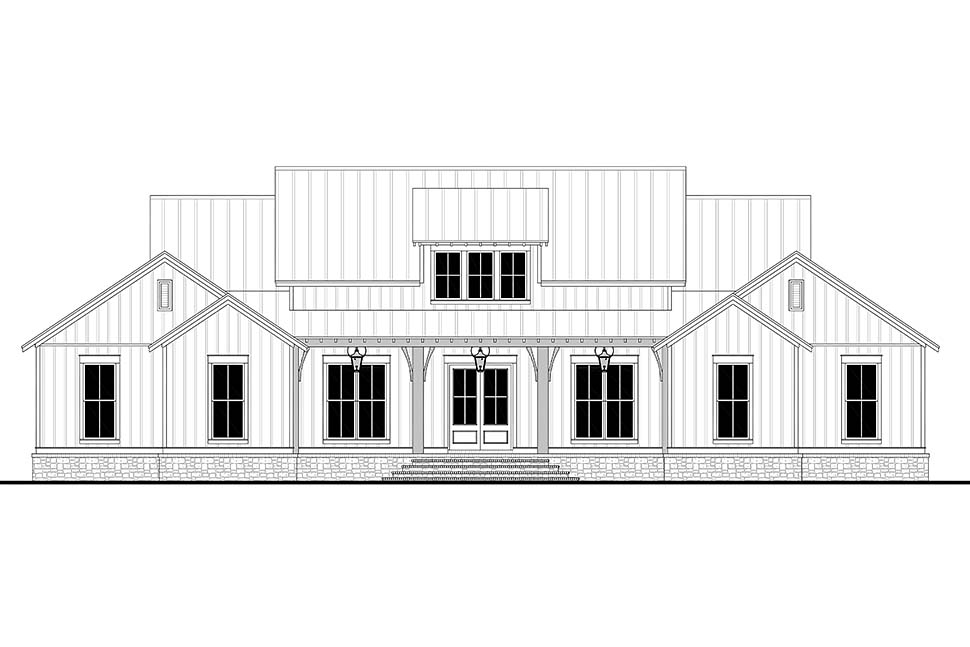 Country, Farmhouse, Southern, Traditional House Plan 56718 with 3 Beds, 3 Baths, 2 Car Garage Picture 3