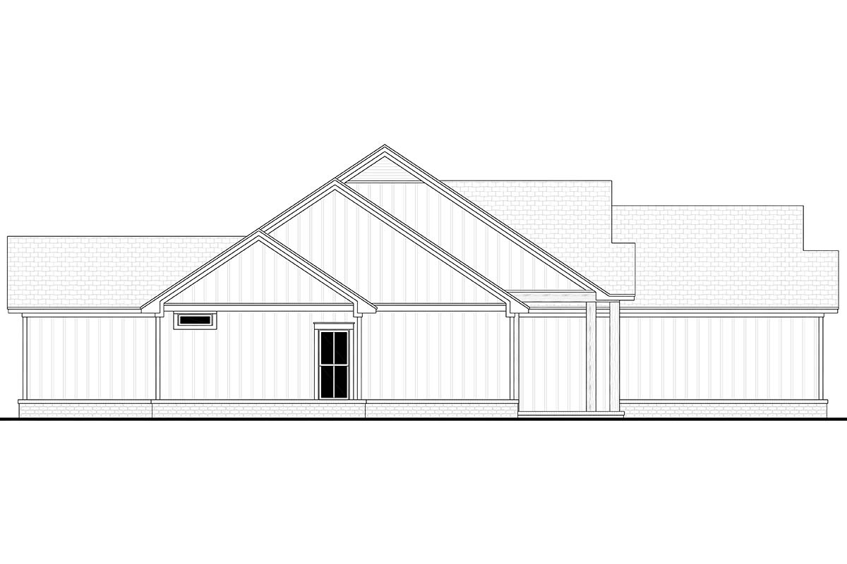 Country, Farmhouse, One-Story House Plan 56719 with 4 Beds, 2 Baths, 2 Car Garage Picture 2