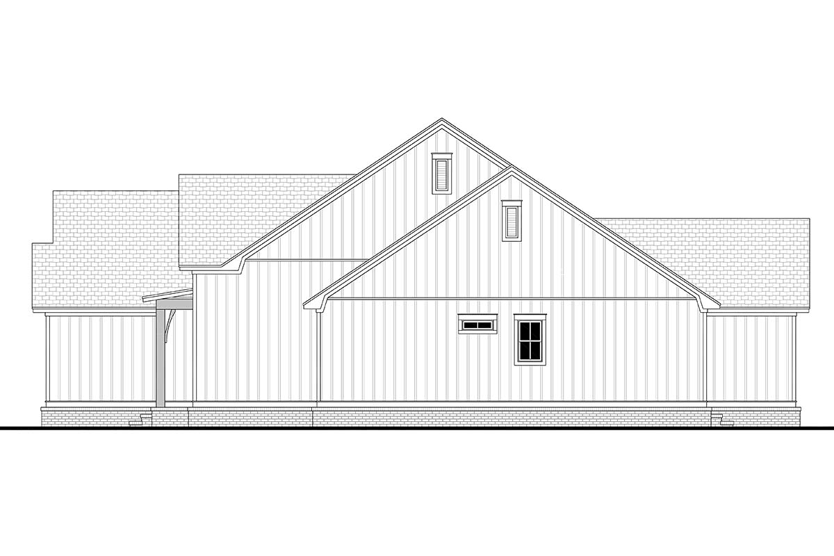 Country, Craftsman, Farmhouse, One-Story, Traditional House Plan 56720 with 4 Beds, 3 Baths, 2 Car Garage Picture 1
