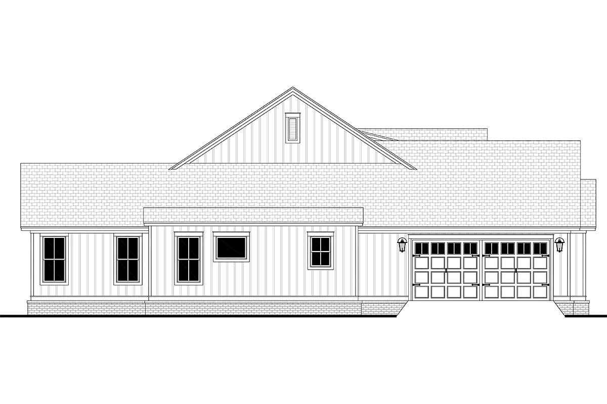 Country, Craftsman, Farmhouse, One-Story, Traditional House Plan 56720 with 4 Beds, 3 Baths, 2 Car Garage Picture 2