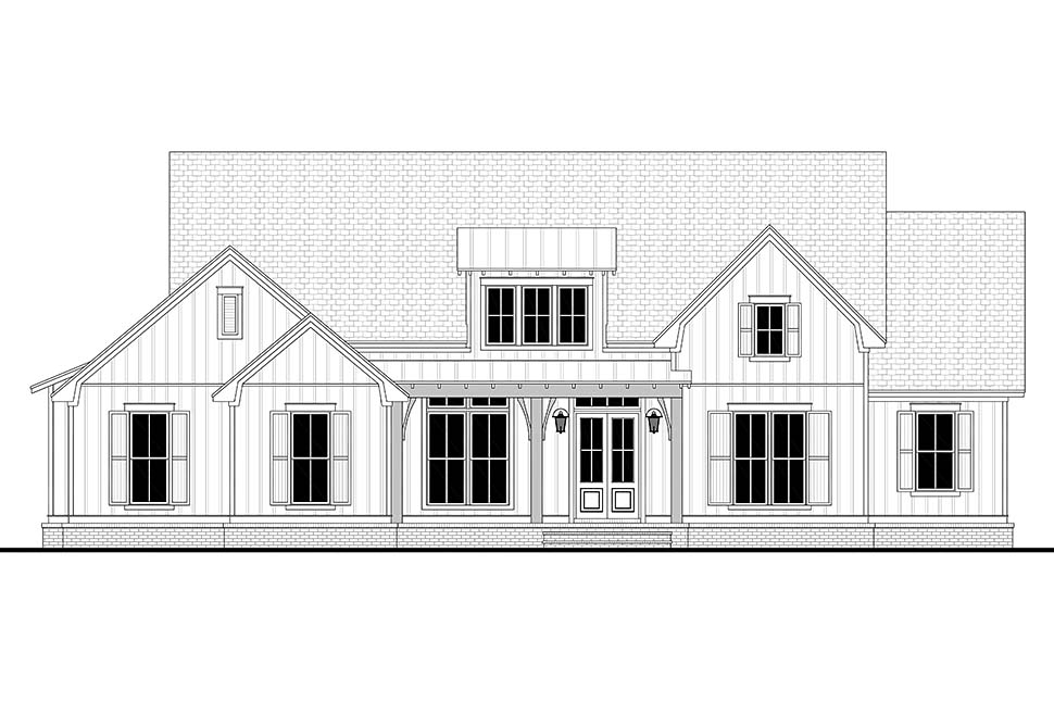 Country, Craftsman, Farmhouse, One-Story, Traditional House Plan 56720 with 4 Beds, 3 Baths, 2 Car Garage Picture 3