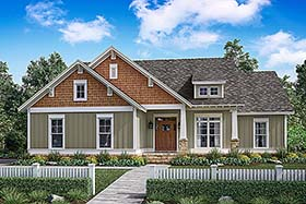 Traditional , Craftsman , Country , Cottage House Plan 56901 with 3 Beds, 2 Baths, 2 Car Garage Elevation