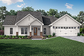 Cottage Country Craftsman Traditional House Plan 56902 Elevation