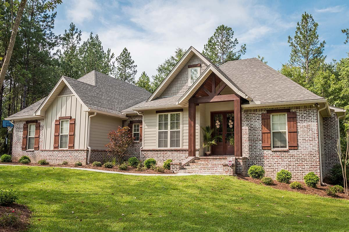 Traditional , Craftsman , Country House Plan 56903 with 3 Beds, 2 Baths, 2 Car Garage Elevation