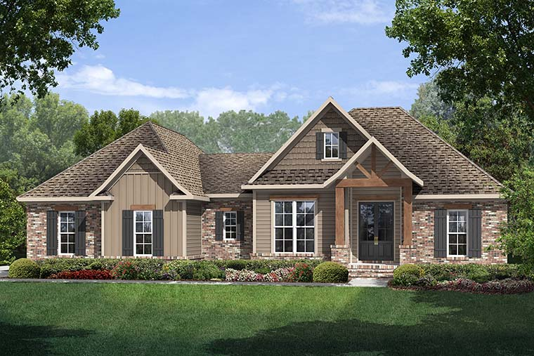 Country French Country Traditional House Plan 56903