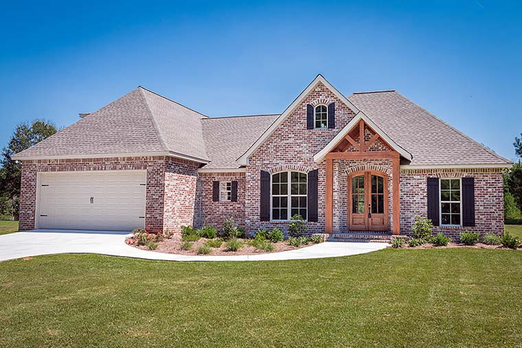 French Country , Traditional House Plan 56906 with 3 Beds, 2 Baths, 2 Car Garage Elevation