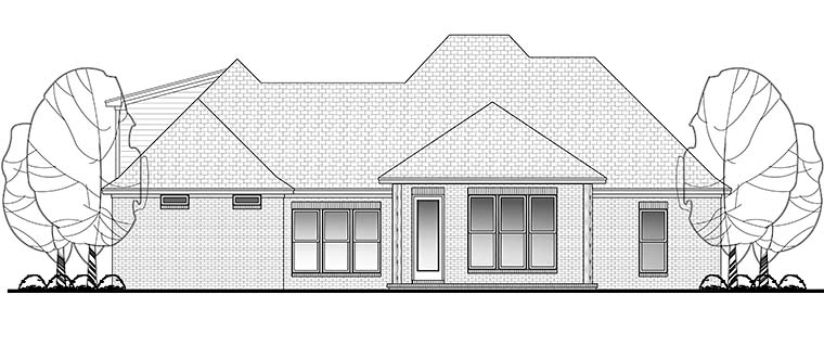 Country French Country Southern House Plan 56907 Rear Elevation