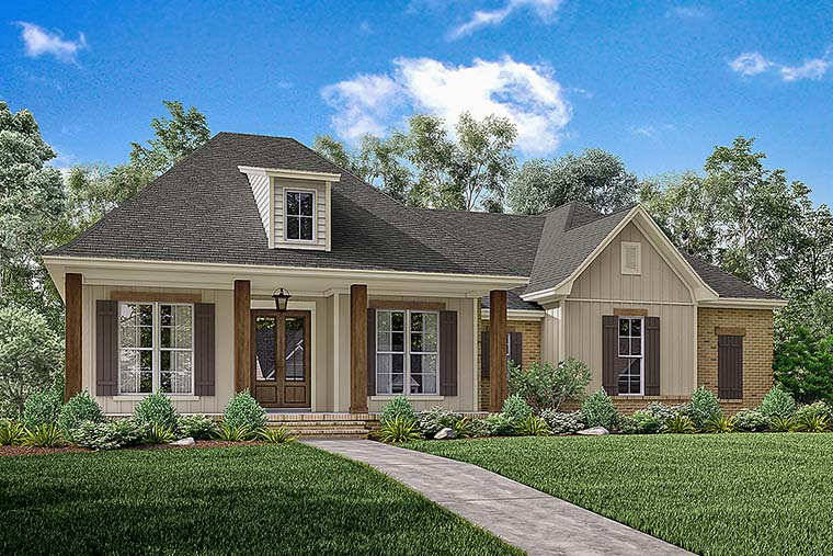 Country European French Country Southern House Plan 56908 Elevation