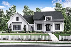 Country , Craftsman , Farmhouse , Traditional House Plan 56912 with 3 Beds, 2 Baths, 2 Car Garage Elevation
