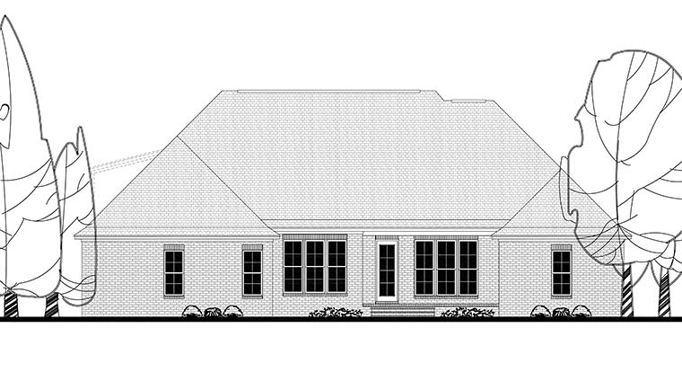 Country French Country House Plan 56915 Rear Elevation