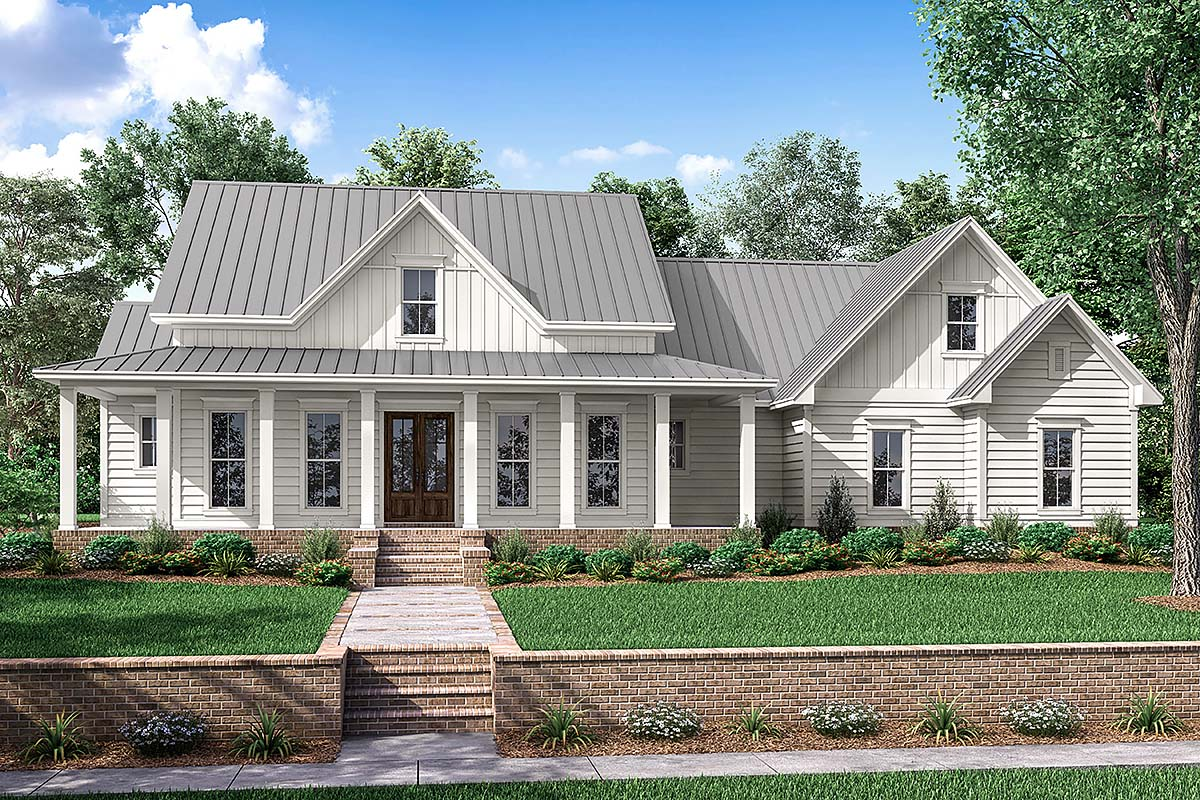Country Farmhouse Southern Traditional Elevation of Plan 56916