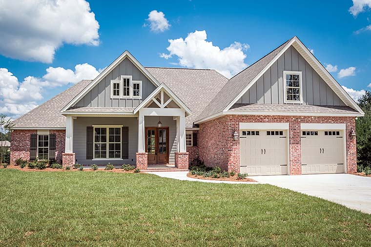 Country Craftsman Traditional House Plan 56917