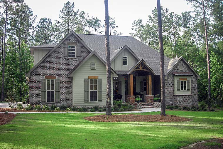 Country, Craftsman, Traditional House Plan 56922 with 3 Beds, 3 Baths, 2 Car Garage Elevation