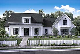 Southern , Farmhouse , Country House Plan 56925 with 4 Beds, 3 Baths, 2 Car Garage Elevation