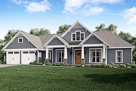 Country Craftsman Traditional House Plan 56927 Elevation