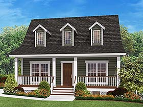 Cabin Country Southern House Plan 56933 Elevation
