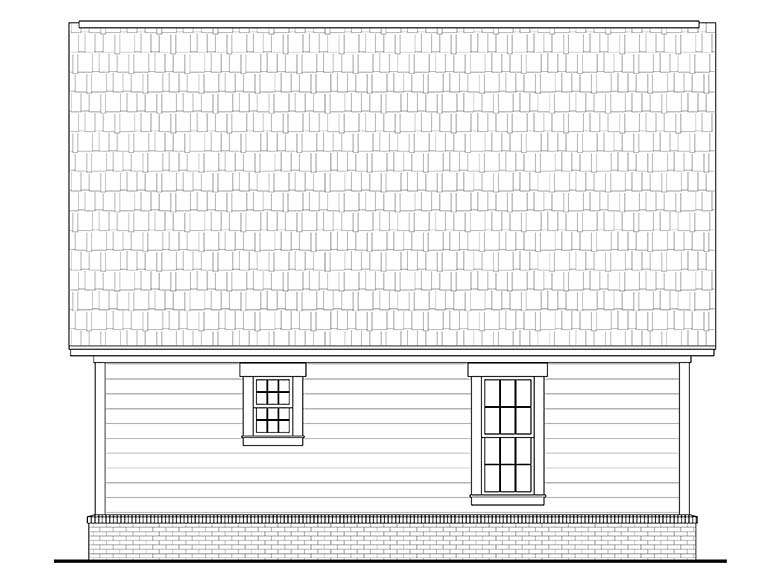Cabin Country Southern House Plan 56933 Rear Elevation