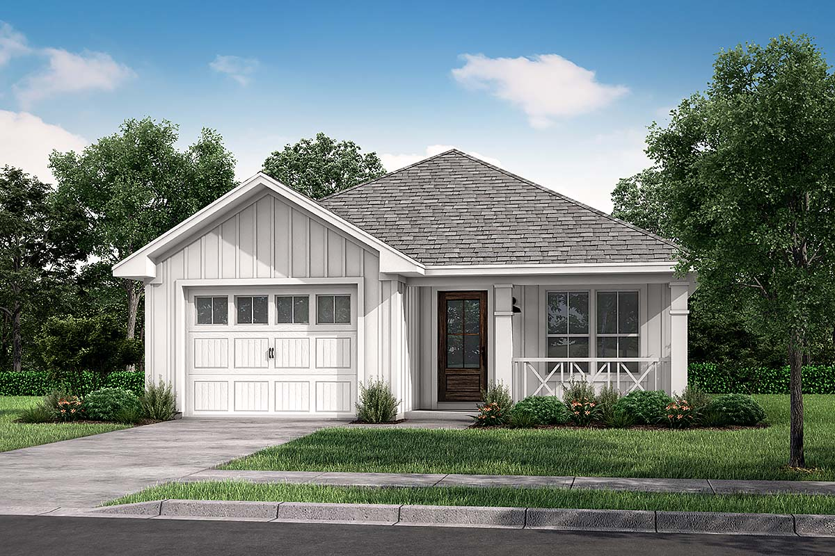 Country Ranch Traditional Elevation of Plan 56936