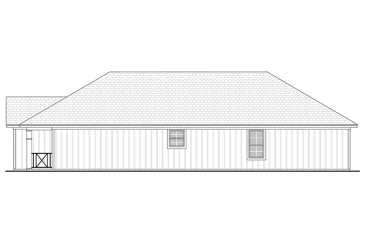 Country, Ranch, Traditional House Plan 56936 with 3 Beds, 2 Baths, 1 Car Garage Picture 1