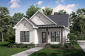 Cottage Country Southern Traditional House Plan 56937 Elevation