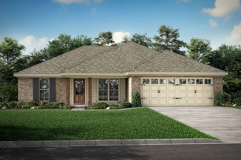 Country, Ranch, Traditional House Plan 56938 with 3 Beds, 2 Baths, 2 Car Garage Picture 8