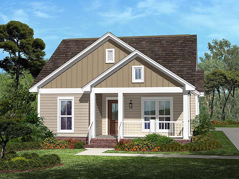 Country , Craftsman , Traditional House Plan 56940 with 3 Beds, 2 Baths, 2 Car Garage Elevation