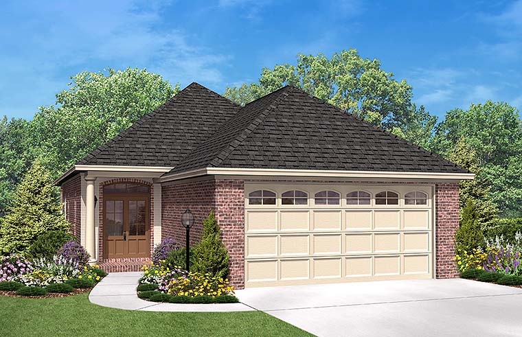 European French Country House Plan 56947 Elevation