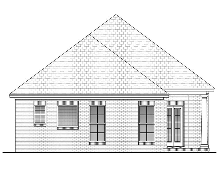 European French Country House Plan 56947 Rear Elevation