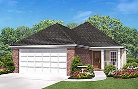 Country , Ranch , Traditional House Plan 56954 with 3 Beds, 2 Baths, 2 Car Garage Elevation