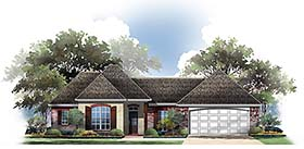 Country European French Country House Plan 56955 Elevation