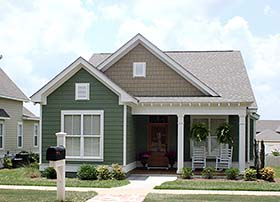 Cottage , Craftsman , Southern , Traditional House Plan 56960 with 3 Beds, 2 Baths, 2 Car Garage Elevation