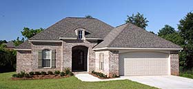 European , French Country House Plan 56962 with 3 Beds, 2 Baths, 2 Car Garage Elevation