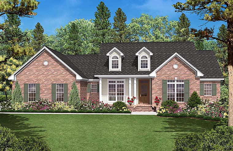 Country Ranch Traditional Elevation of Plan 56966