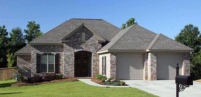 Country, European, French Country House Plan 56968 with 3 Beds, 2 Baths, 2 Car Garage Elevation