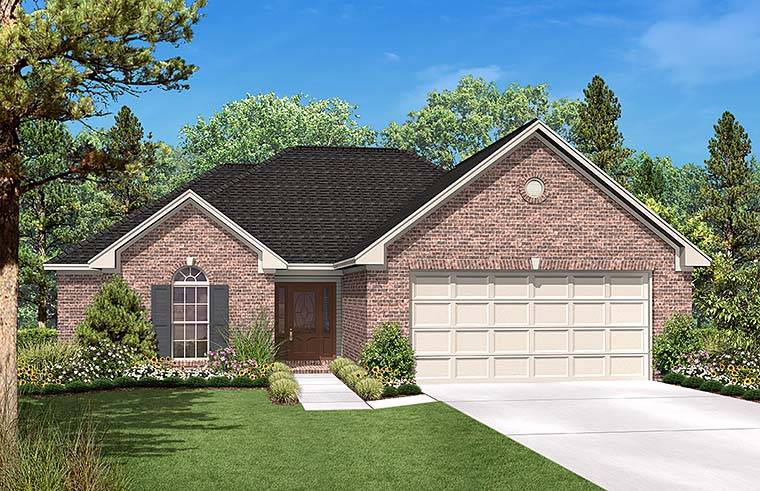 Country Ranch Traditional House Plan 56969 Elevation