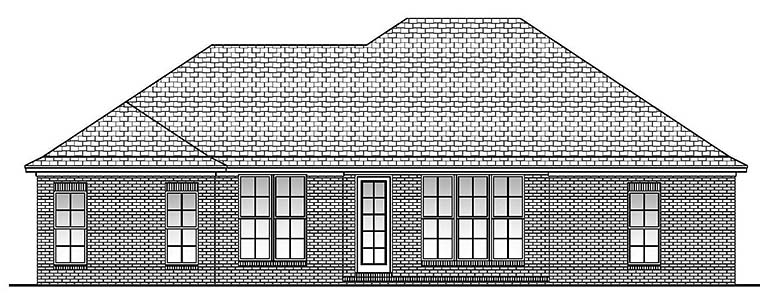 Country European French Country House Plan 56973 Rear Elevation