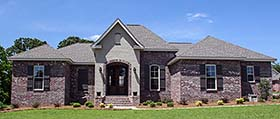French Country , European , Country House Plan 56976 with 3 Beds, 2 Baths, 2 Car Garage Elevation