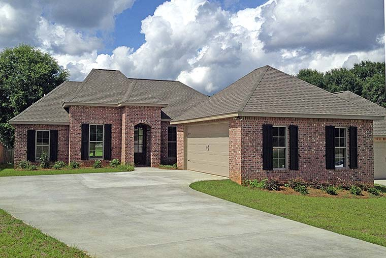Country, European, French Country House Plan 56977 with 3 Beds, 2 Baths, 2 Car Garage Elevation
