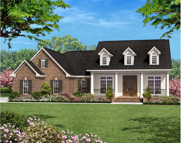 Country , Ranch , Traditional House Plan 56978 with 3 Beds, 3 Baths, 2 Car Garage Elevation