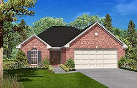 Country , Traditional House Plan 56979 with 3 Beds, 2 Baths, 2 Car Garage Elevation