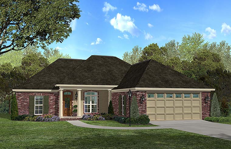 Country French Country Southern House Plan 56981 Elevation