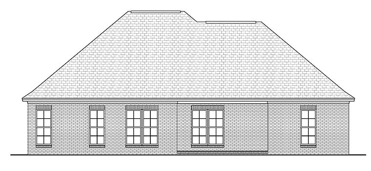 Country French Country Southern House Plan 56981 Rear Elevation